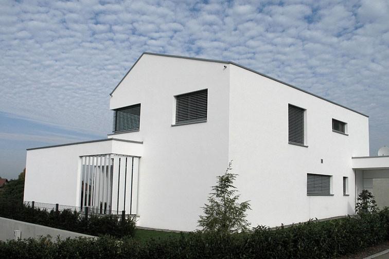Haus auf schwierigem Grund