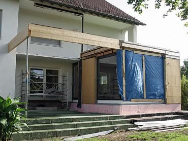 Anbauten an ein Wohnhaus